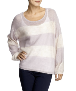 Free People Wide Stripe Pullover Sweater