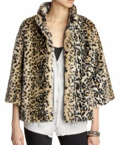 Tulle Faux Fur Leopard Jacket