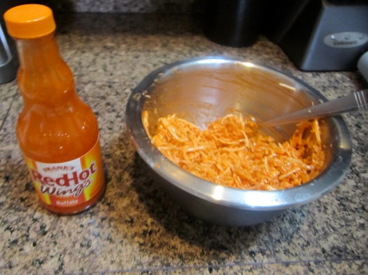 Buffalo Chicken Wonton Mixture